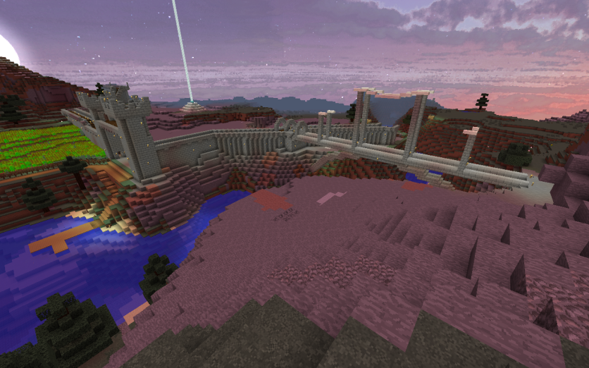My architect brother is probably going to destroy my bridge... =( I think it looks ok! Still need to finish it though.