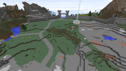 Building roads and massive terraforming. I literally took out a mountain. A MOUNTAIN.